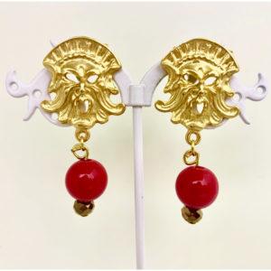Orecchini con maschera – Pompei style